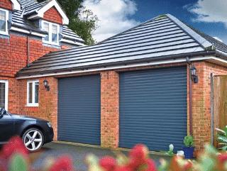Blue SWS Garage Doors