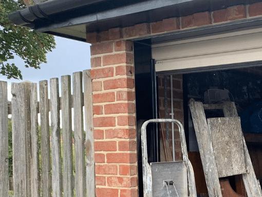 Garage door maintenance ladder in the way