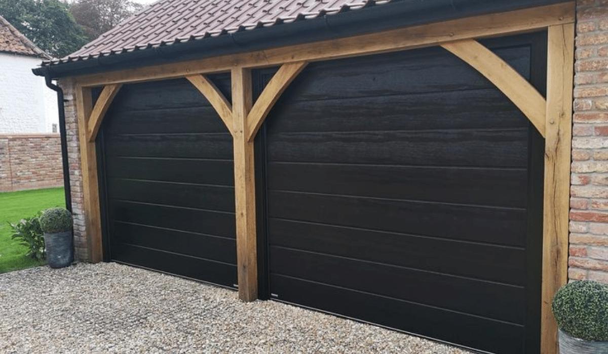 Garage Doors Black Sectional