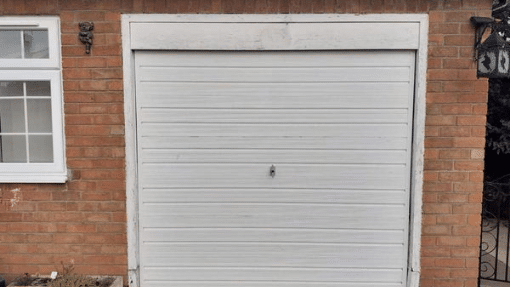 An old garage door in Spalding