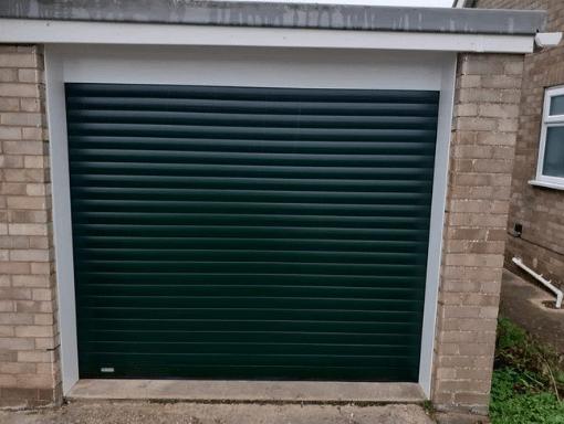 Green SWS Roller Garage Door