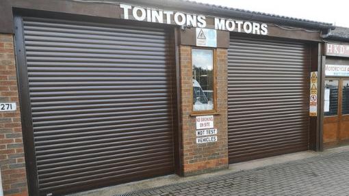 SWS Secure by Design garage door for commercial premises in Spalding