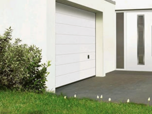 White Novotherm Sectional Garage Door