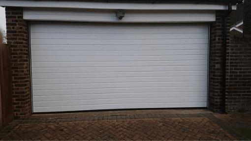 King's Lynn Garador small Linear sectional Garage Door After