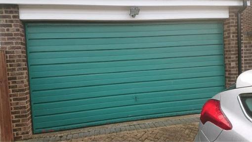 King's Lynn Garador small Linear sectional Garage Door Before