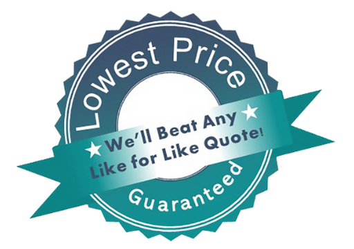 Lowest price guarantee stamp large