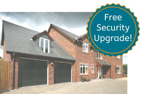 SWS Roller Garage Door in Black Free Security Upgrade
