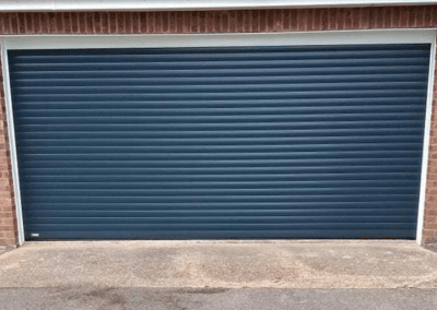 SWS insulated secure by design roller door in Anthracite.
