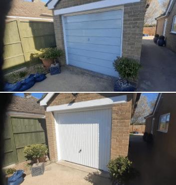 Garador Carlton canopy garage door in Terrington St Clements.