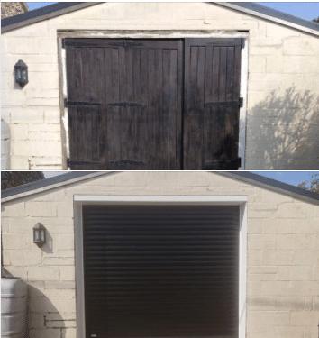 SWS secure by design roller door in black in Sporle.