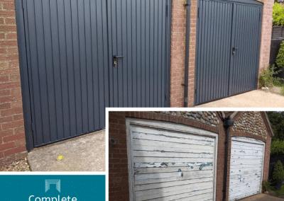 Fantastic Side hinged garage door transformation.