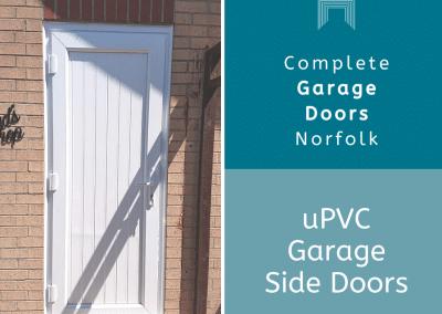 uPVC side garage doors to go with a new garage door.
