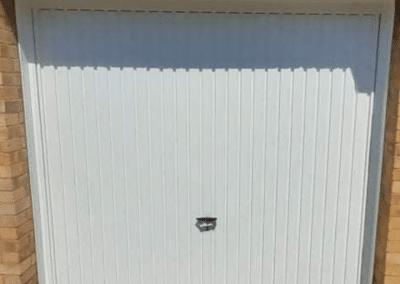 Novoferm Thornby retractable door inc a steel frame.