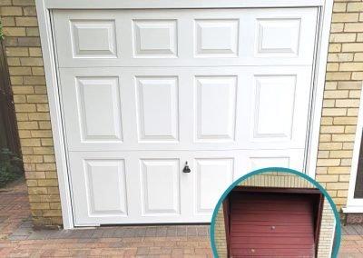 Garador Beaumont canopy door in white inc a steel frame.
