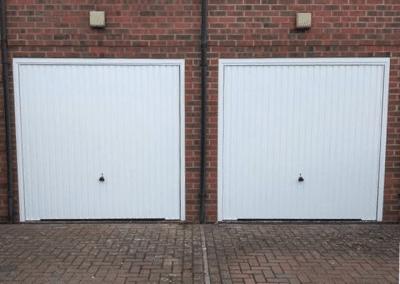 2 Garador Carlton canopy doors inc a steel frame.