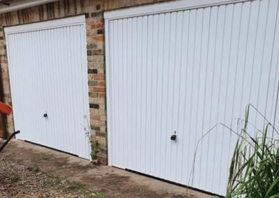 A pair of Garador Carlton garage doors installed in North Runcton.