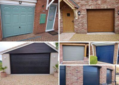How to choose the best garage door Pictures represent several different garage doors.