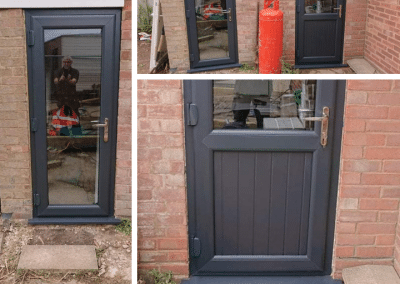 A pair of upvc Anthracite side doors installed in Heacham.