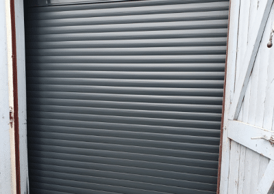SWS secure by design roller door in Anthracite installed in Kings Lynn