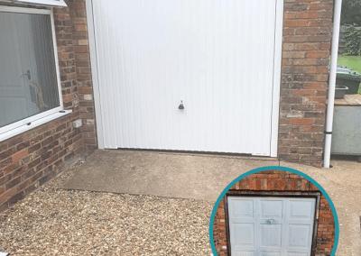Garador Carlton retractable door inc a steel frame installed in Clenchwarton