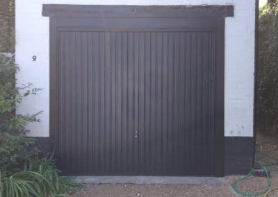 Garador Carlton canopy door in black inc a steel frame, 2 point locking and upvc trims.