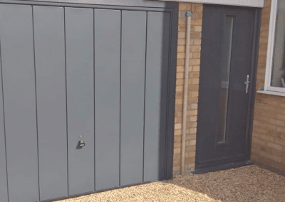 Garador Windsor canopy door in Anthracite inc a steel frame & 2 point locking
