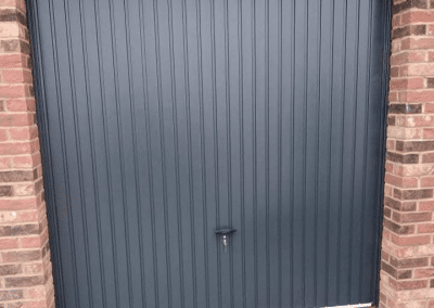 Novoferm Thornby retractable doors fitted in Weston nr Spalding on a new build site.