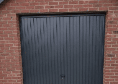 Novoferm Thornby retractable doors in Anthracite inc steel frames