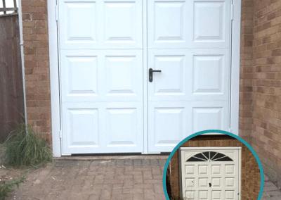 Pair of Garador Georgian steel side hinged doors