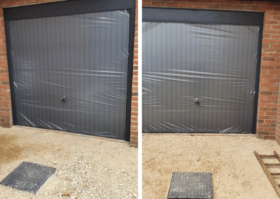 The last 2 doors fitted on phase 1 of a new build site in Pott Row.