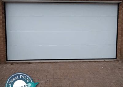 Sommer Your Door insulated sectional garage door installed in Hillington.