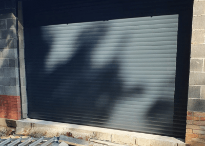 Trojon insulated roller door in Anthracite installed in Ashwicken.