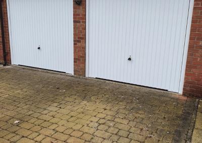 A pair of Garador Carlton canopy doors inc steel frames installed in South Wootton
