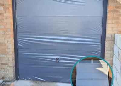 Garador Ascot canopy door in Anthracite installed in Hunstanton.